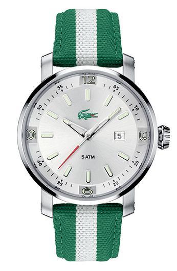 ����ڪ� ���� ����� ������ڪ� Lacoste lacoste-mainsail-mens-round-watch-green.jpg
