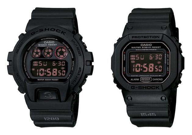 Two Classic Casio G-Shocks in Matte Black Red Eye Pack Watch shop ... 752a2b875e