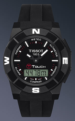 90f0f776d719 Tissot T-Touch Trekking Titanium Watch in Black Watch shop