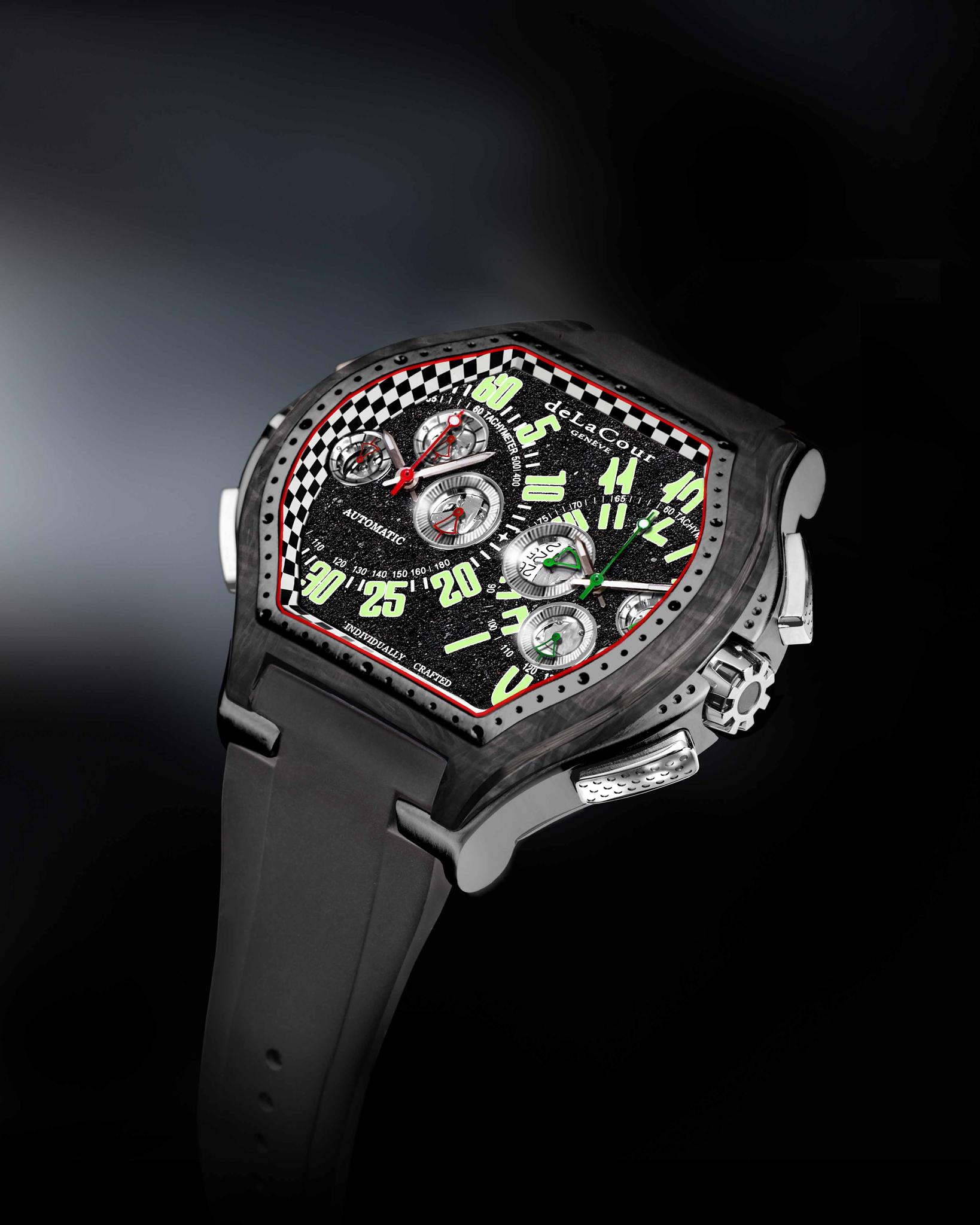 Характеристики часов delacour christophe claret bitourbillon: механизм dc на 78 камнях.