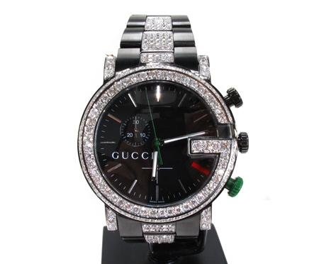 Diamond Gucci G Watch Is One Of A KindWatch shop, Mens ...