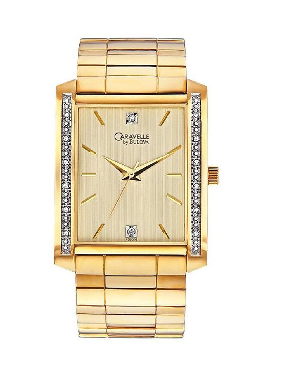 caravelle by bulova diamond mens watch is flashy accessorywatch caravelle by bulova diamond mens watch