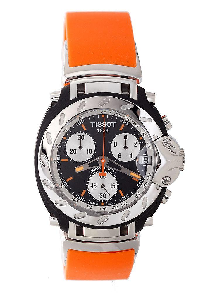 tissot t sport t race chronograph orange rubber